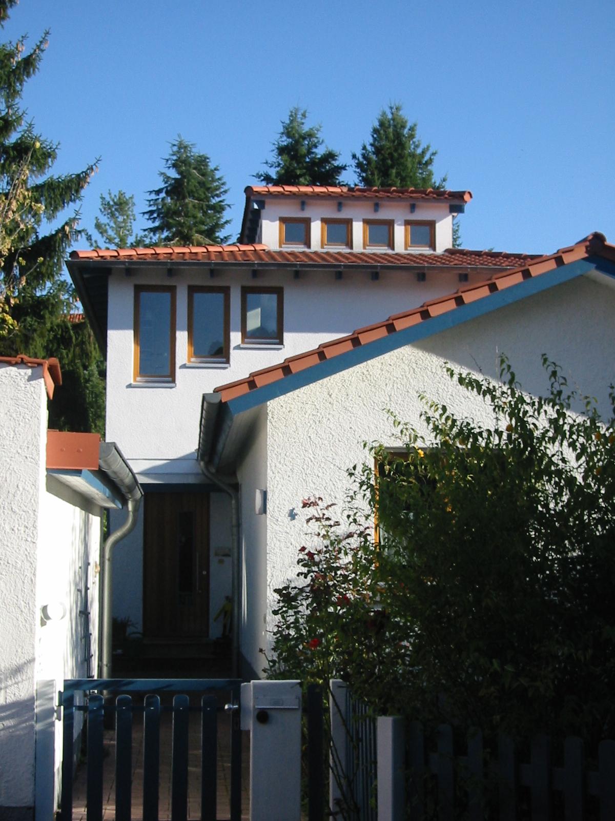 2001 Aufstockung Einfamilienhaus Bild 2