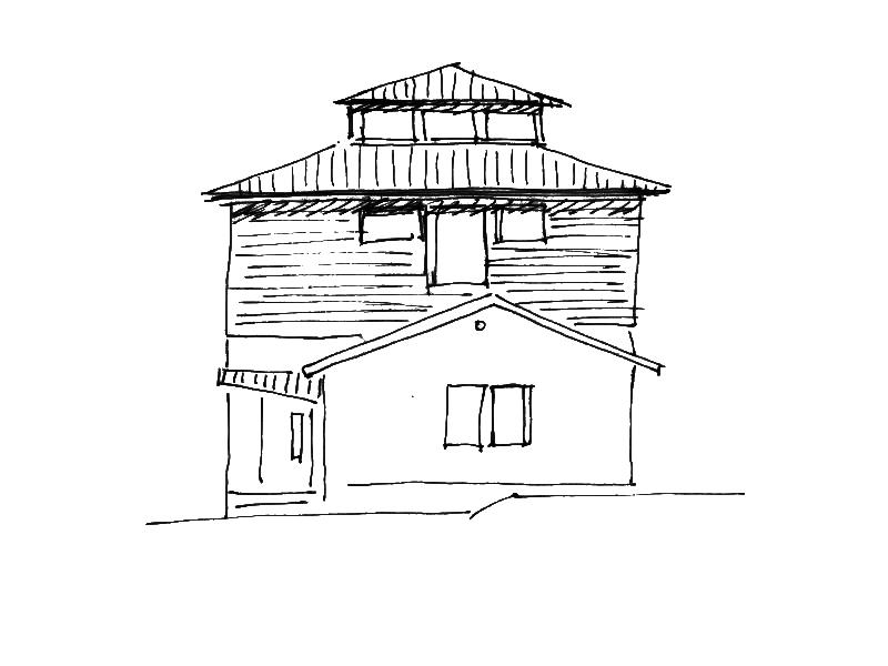 2001 Aufstockung Einfamilienhaus Skizze 1