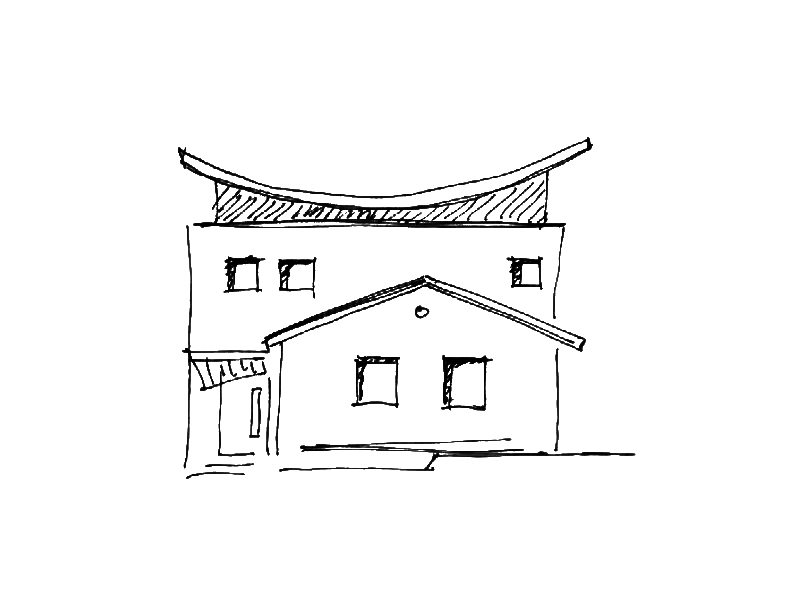 2001 Aufstockung Einfamilienhaus Skizze 3