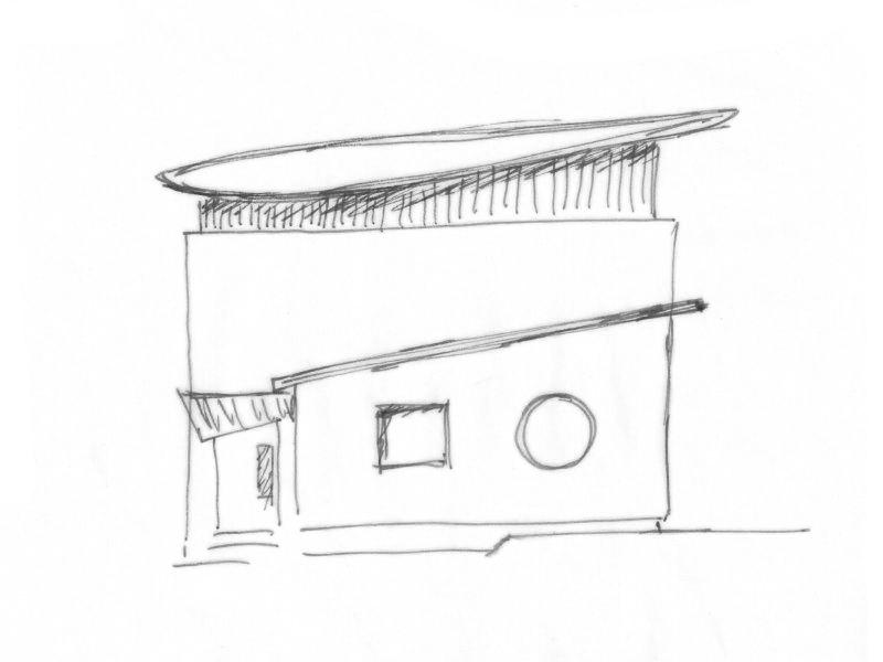 2001 Aufstockung Einfamilienhaus Skizze 4-1