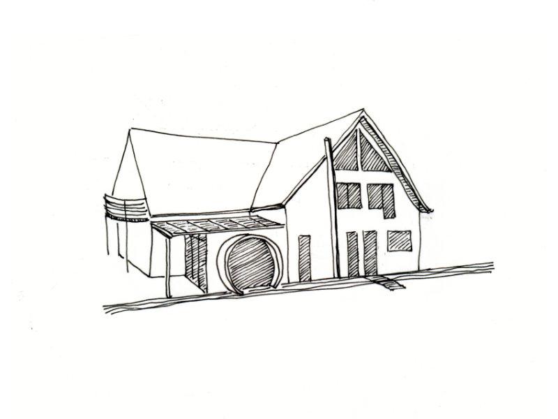 2005 Anbau an Zweifamilienhaus Skizze 2