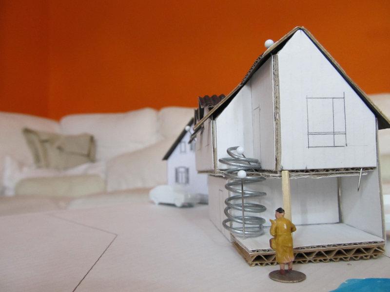 2016 Anbau an Einfamilienhaus Modell 1
